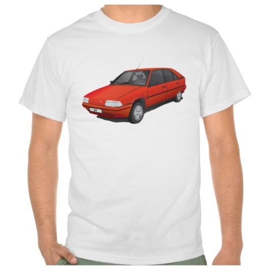 Citroën BX t-shirt with text, red