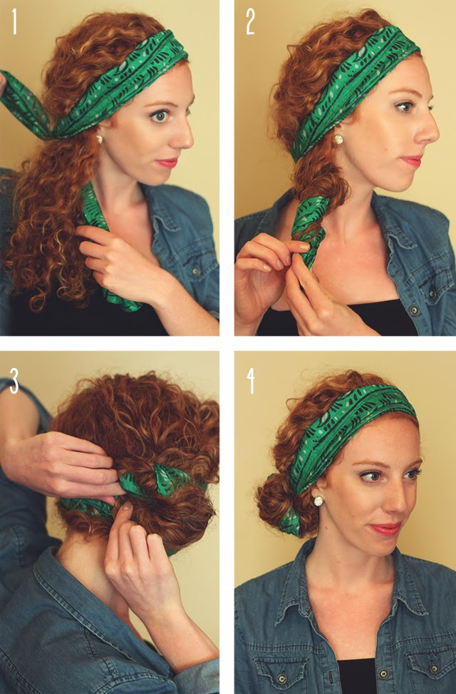 how to tie hair in different styles scarf style she learns things 5647