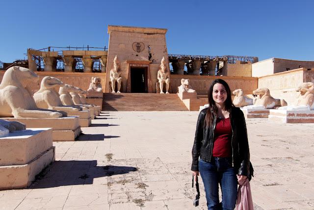 Fachada de un templo egipcio de los Estudios Atlas