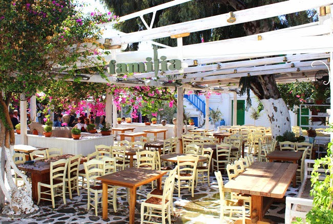 Chora Mykonos town Familia restaurant and tavern