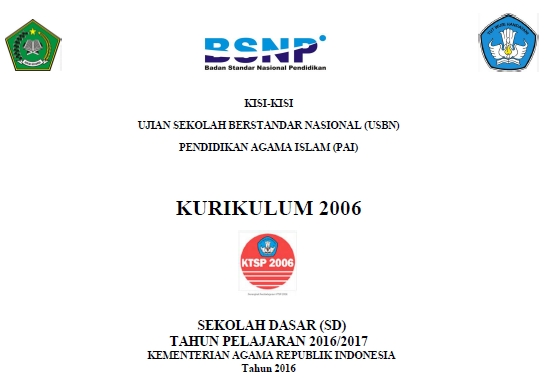 Download Kisi Kisi Soal Usbn Pai Sd 2017 Ktsp Website Pendidikan