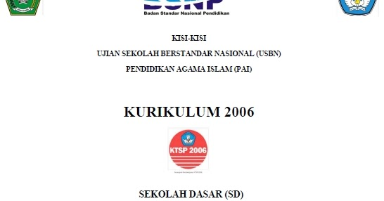 Download Kisi Kisi Soal Usbn Pai Sd 2017 Ktsp Infopendidikan