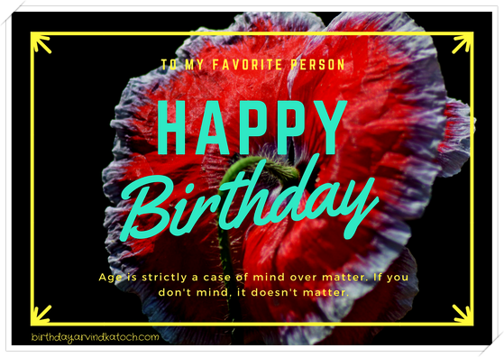 favorite, person, Happy Birthday, Birthday, Card, Older People,