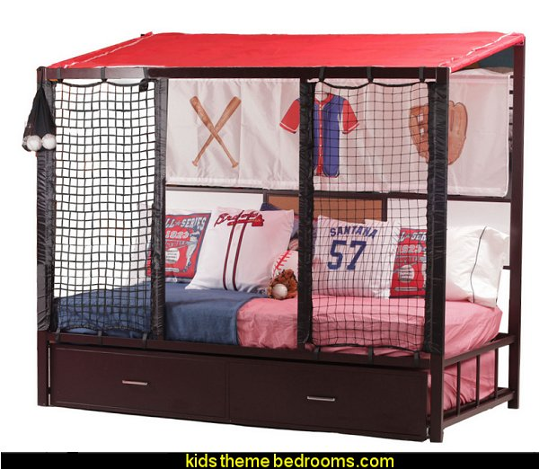 Home Run Dugout Bed with Trundle