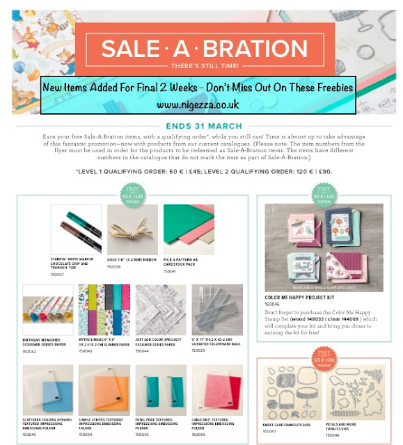 New Sale-A-Bration items added