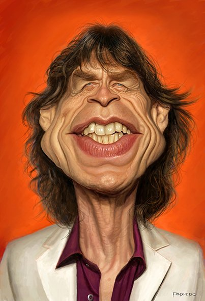 Mick Jagger por Walter Fornero