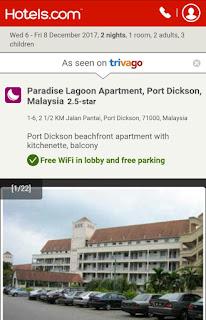 accomodation, hotel murah PD, hotel port Dickson, penginapan, Tempah hotel, trivago, Paradise Lagoon Apartment, Negeri Sembilan,