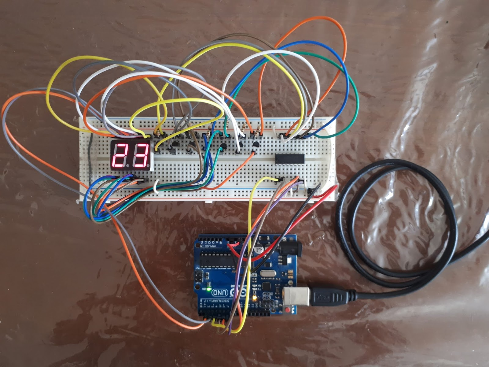 Write on 7-segment with 74LS48 by Arduino Uno