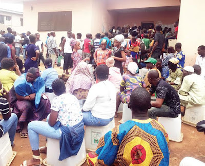 Many Sleeping At INEC Office In Lagos Just To Get PVC