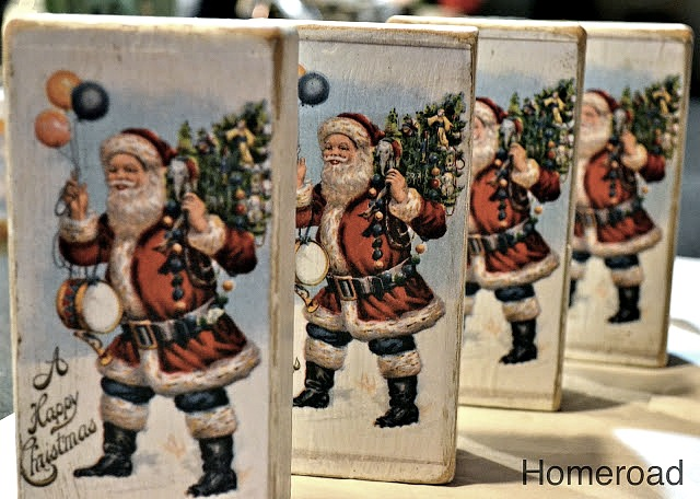 DIY Christmas Postcard Blocks. Homeroad.net