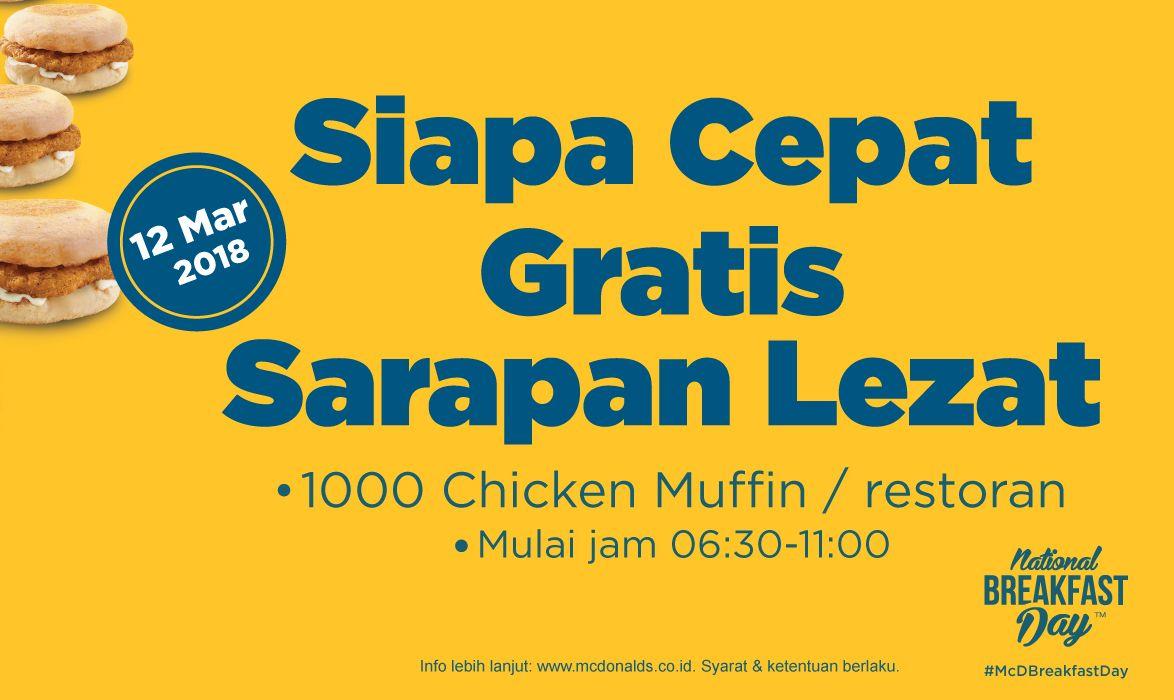 Makanan gratis dari McDonalds (mcdonalds.co.id)