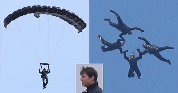 Hollywood actor Tom Cruise's Sky Diving