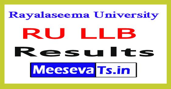 Rayalaseema University LLB 5 Years Results 2017