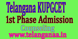 KUPGCET 2016 Admission Consulting Data Certificate Web Options Schedule