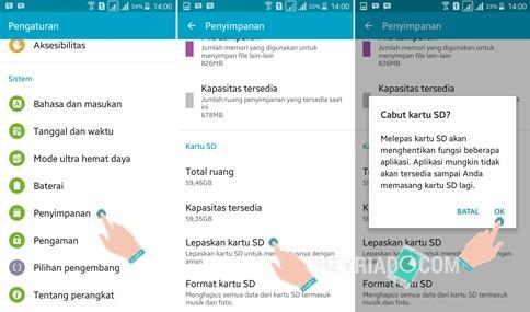 Cara Melepas SD Card di Android