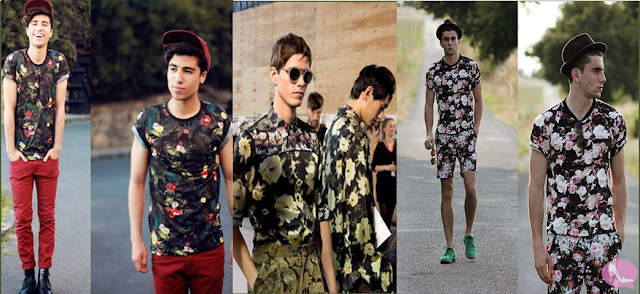 Looks Masculinos com Estampa Floral de Fundo Preto