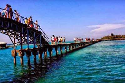 jembatan cinta, pulau tidung, jembatan cinta di pulau tidung