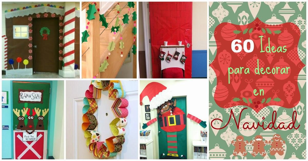 Recursos ideas para decorar y preparar el aula para for Ideas para adornar puertas en navidad