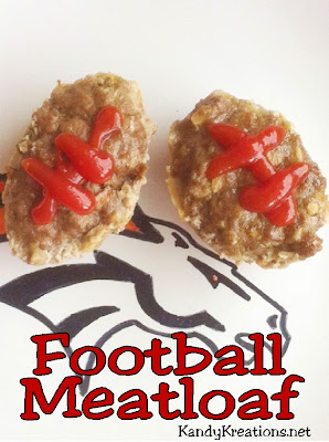 Try these fun, easy, and yummy Football shaped meatloafs. Perfect for a tailgate party or football party.