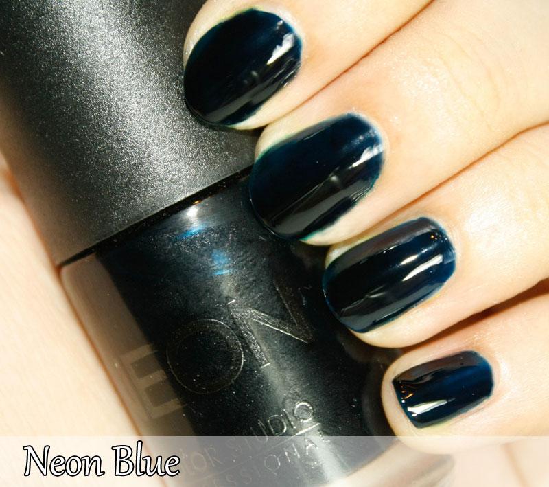 Neon Blue Nail Polish: Neon Nail Polish Collection-- Swatches
