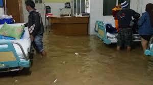 Banjir Masuk Ke Rumah Sakit Garut
