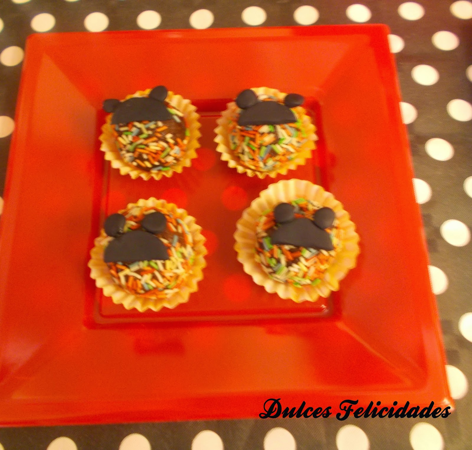 Bolitas decoradas Mickey Mouse