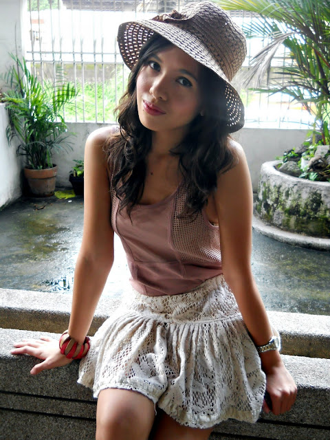 57c46b590cc Hat  Random from Cebu    Top  Topshop    Skirt  Thrifted