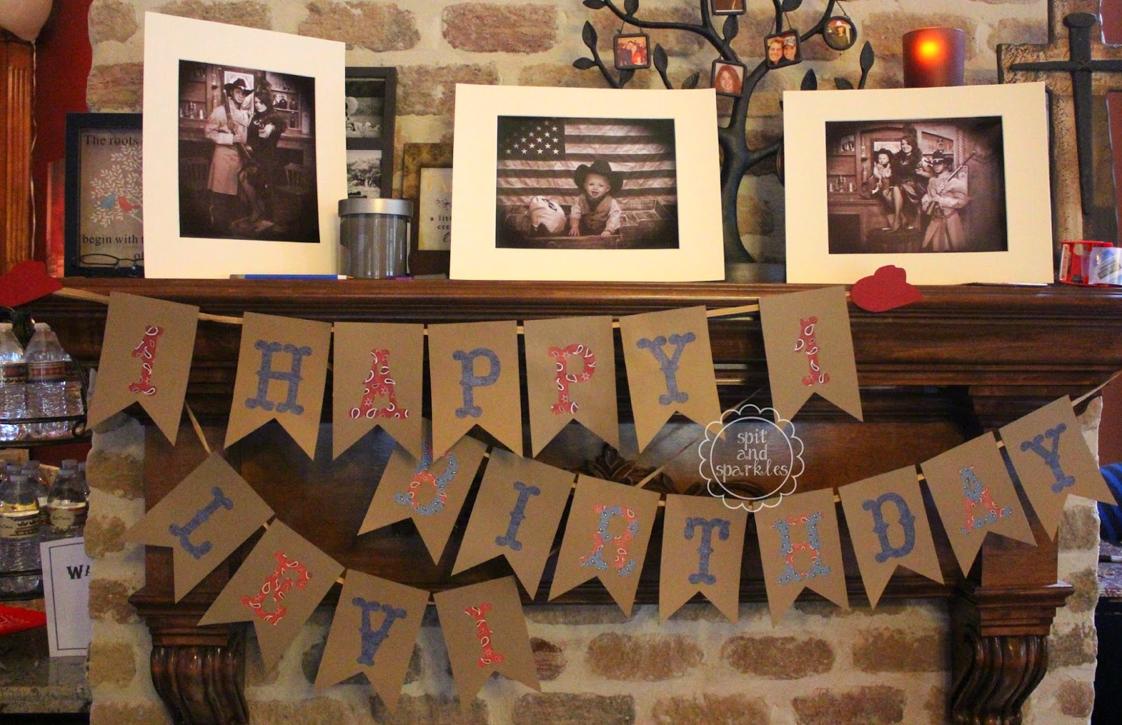 Little Buckaroo First Birthday Theme with FREE Printables via Spit and Sparkles Blog. #birthday #partydecor #western #cowboy