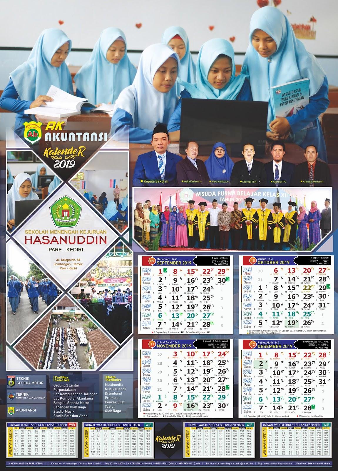 SMK Hasanuddin Pare Kediri: Desain Kalender 2019 SMK ...