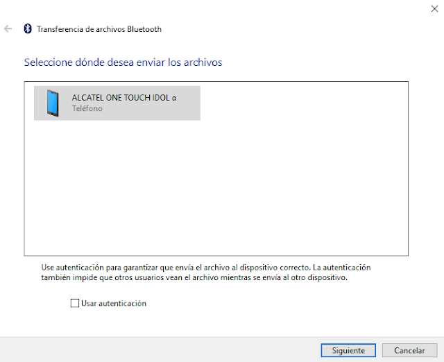 porque no puedo enviar archivos por bluetooth a otro celular