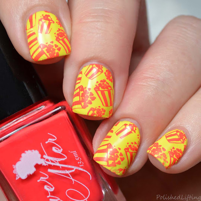 popcorn nail art