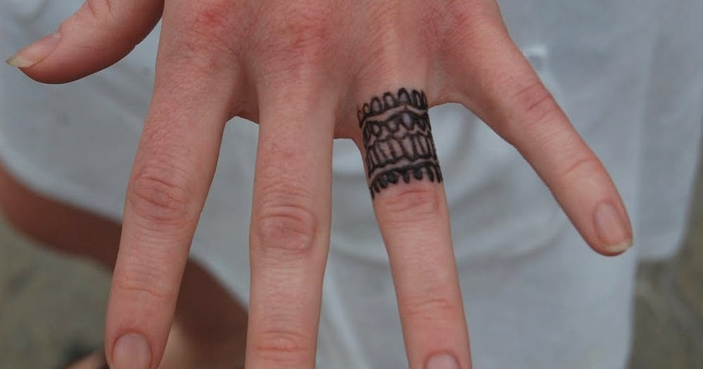 Mens Wedding Ring Tattoos On Left Hand