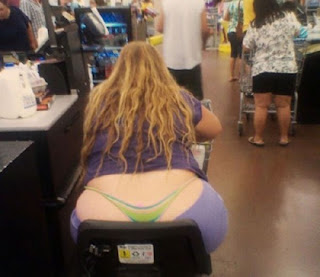 Meanwhile at Walmart Woman G String Butt