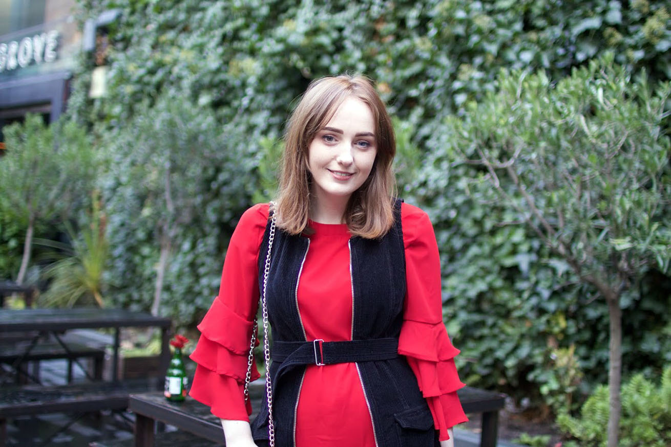 Liverpool fashion blogger with Boohoo dress of the month