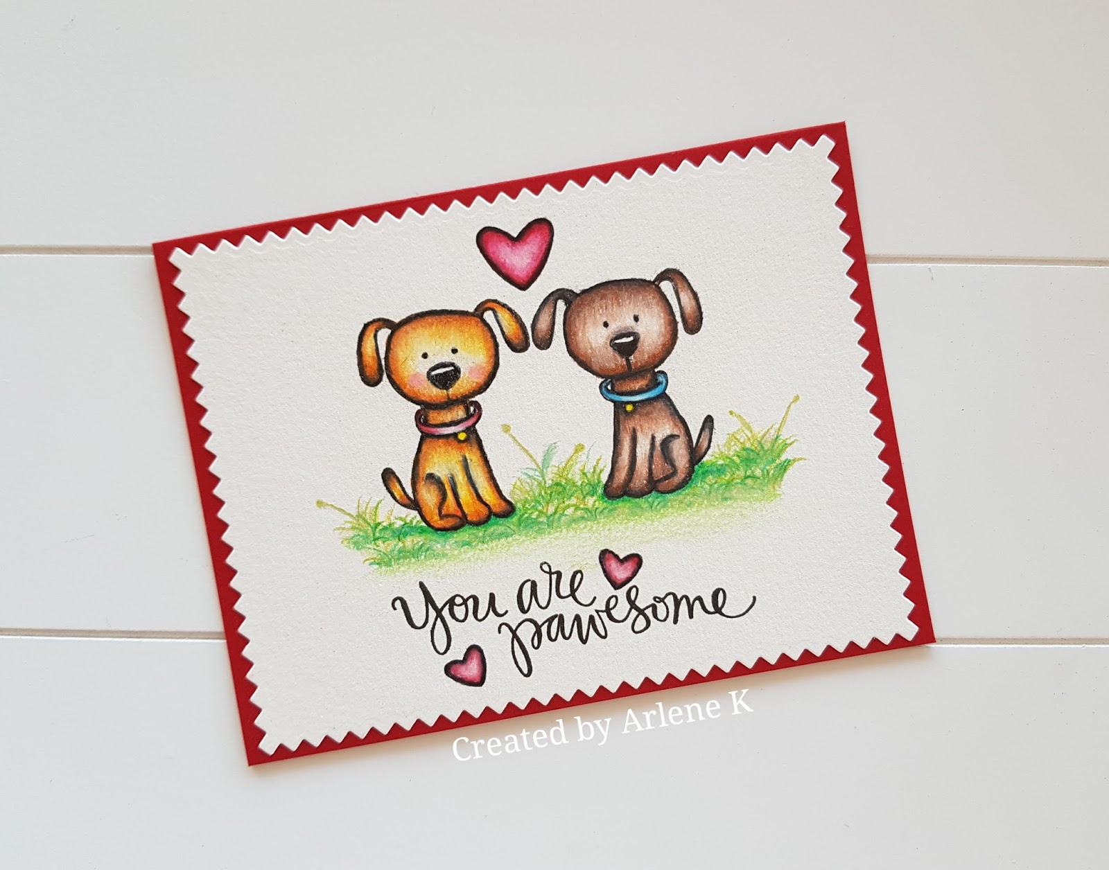 Knipoog Creations Valentine Card You Are Pawsome