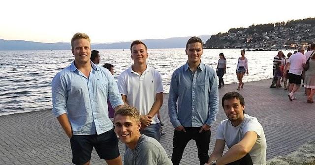 F1 Pilot Jolyon Palmer macht Urlaub in Ohrid