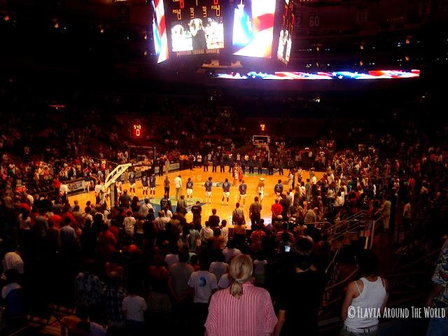 Partido de la WNBA en el Madison Square Garden