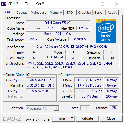 CPU-Z Validation