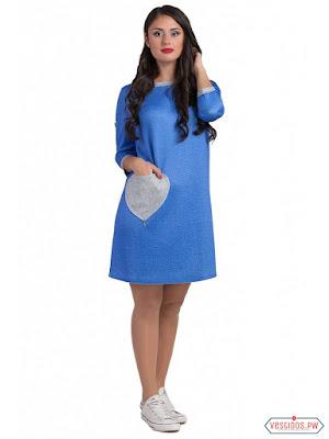 vestidos color azul de moda