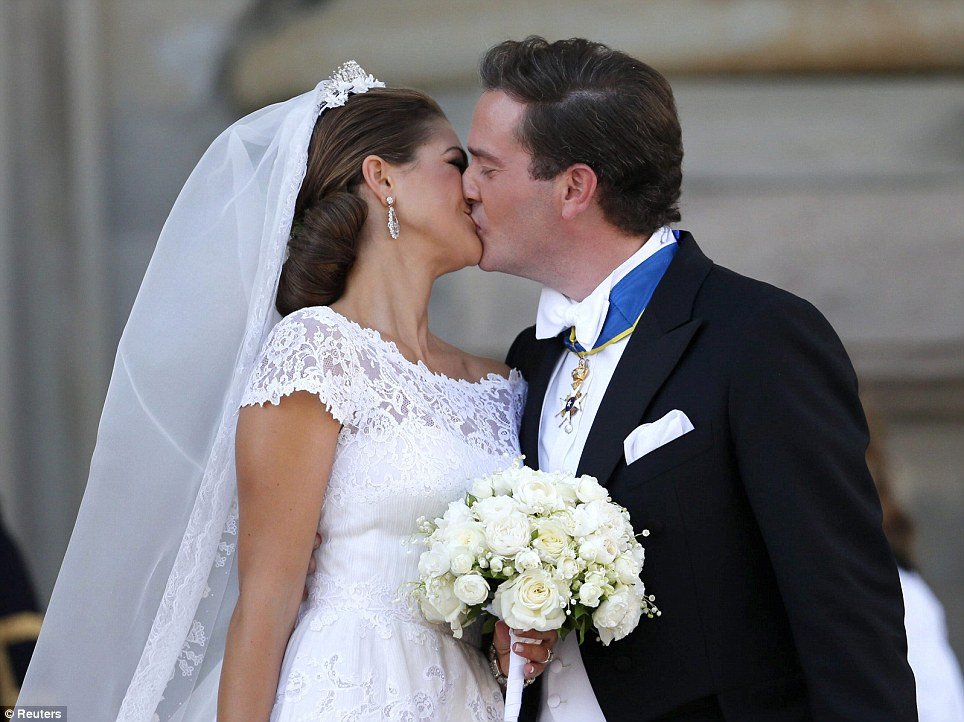 Wedding of Princess Madeleine and Chris O'Neill at the palace church in Stockholm