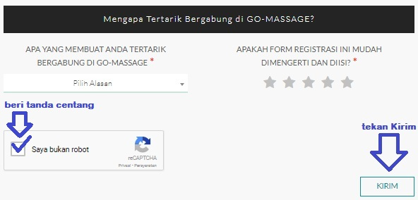 cara daftar go massage, cara daftar go massage gojek, cara mendaftar go massage, go massage gojek
