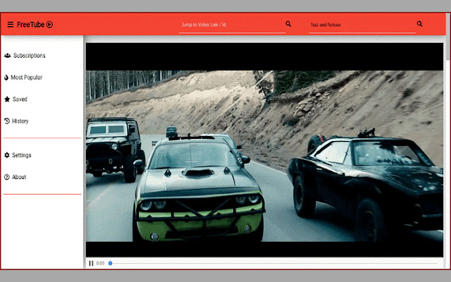 The first YouTube driver on the desktop and watch videos without ads