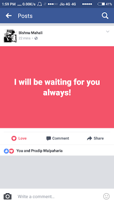 A Facebook Post with Custom Theme/Color
