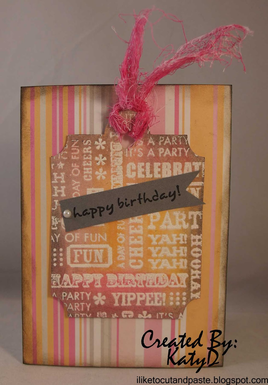 I Like To Cut And Paste Gelatos Tag Birthday Card