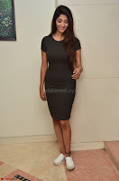 Priya Vadlamani super cute in tight brown dress at Stone Media Films production No 1 movie announcement 023.jpg