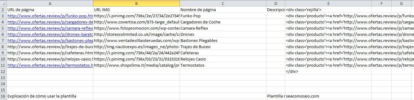 html para rejilla de tsa en blogger