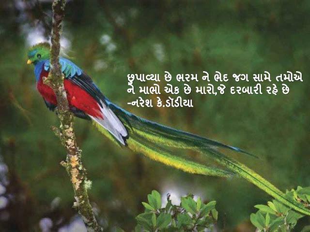 छुपाव्या छे भरम ने भेद जग सामे तमोए Gujarati Sher By Naresh K. Dodia