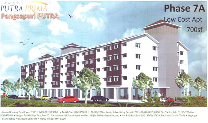 Contoh Projek Rumah Kos Rendah di Selangor