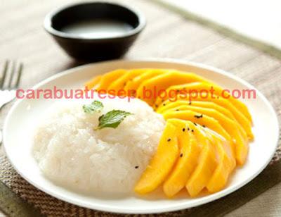 Foto Resep Mango Sticky Rice Khas Thailand Sederhana Spesial Asli Enak