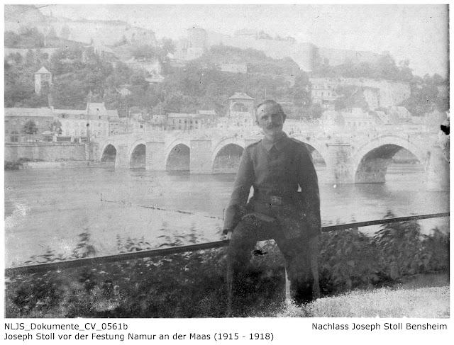 Joseph Stoll vor der Festung Namur an der Maas; Nachlass Joseph Stoll Bensheim, Stoll-Berberich 2016
